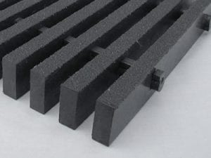 bar type grating black